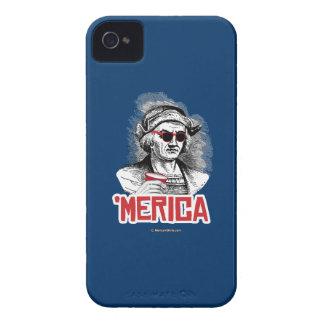 Fiesta de Cristóbal Colón 'Merican iPhone 4 Carcasa