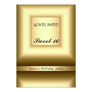 Fiesta de cumpleaños abstracta del dulce 16 del invitación 12,7 x 17,8 cm