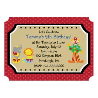 Fiesta de cumpleaños adaptable del circo comunicado personal