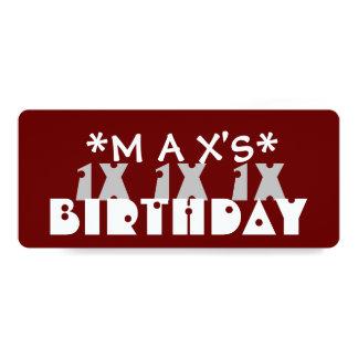 Fiesta de cumpleaños ADOLESCENTE de encargo del Invitación 10,1 X 23,5 Cm
