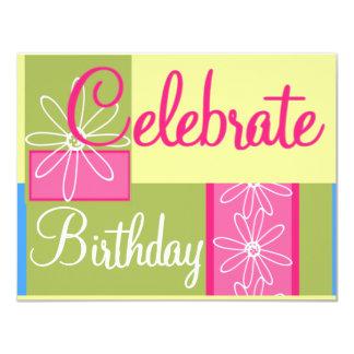 Fiesta de cumpleaños adolescente de los chicas invitación 10,8 x 13,9 cm