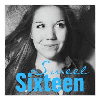 Fiesta de cumpleaños adolescente del dulce invitación 13,3 cm x 13,3cm