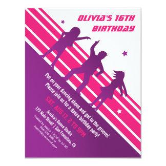 Fiesta de cumpleaños adolescente minimalista invitación 10,8 x 13,9 cm