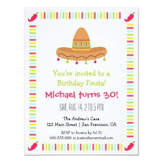 Fiesta de cumpleaños adulta de la fiesta mexicana comunicado