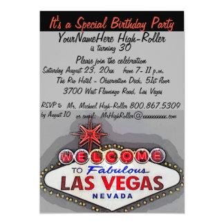Fiesta de cumpleaños adulta de Las Vegas Invitación 12,7 X 17,8 Cm