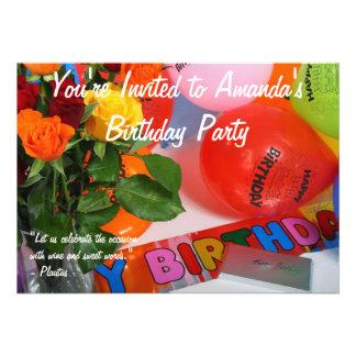 Fiesta de cumpleaños adulta comunicado