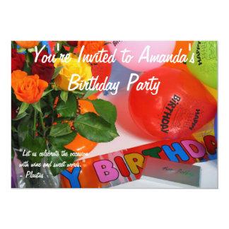 Fiesta de cumpleaños adulta invitación 12,7 x 17,8 cm