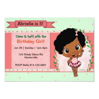 Fiesta de cumpleaños afroamericana del ballet o de invitación 12,7 x 17,8 cm