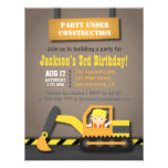 Fiesta de cumpleaños anaranjada del tema de la con comunicado personal