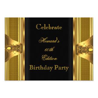 Fiesta de cumpleaños antigua del libro negro del invitación 12,7 x 17,8 cm