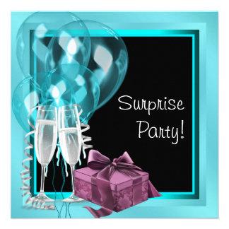 Fiesta de cumpleaños azul de la sorpresa del trull comunicado personal