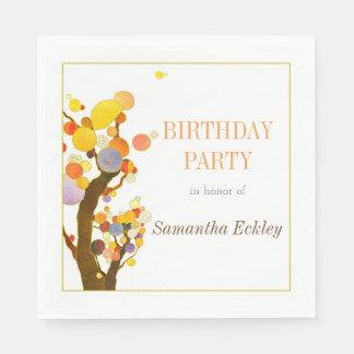 Fiesta de cumpleaños caprichosa de los árboles servilleta desechable