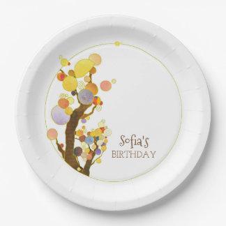 Fiesta de cumpleaños colorida elegante de los plato de papel
