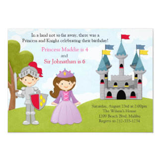 Fiesta de cumpleaños común de la princesa y del invitación 12,7 x 17,8 cm