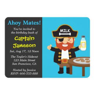 Fiesta de cumpleaños de capitán Theme del pirata Invitación 12,7 X 17,8 Cm