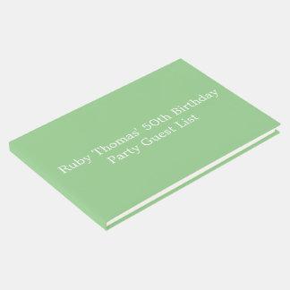 Fiesta de cumpleaños de encargo coloreada Apple Libro De Invitados