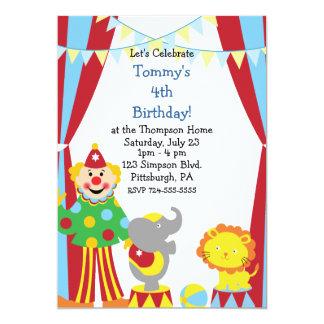 Fiesta de cumpleaños de encargo del circo del niño invitación 12,7 x 17,8 cm