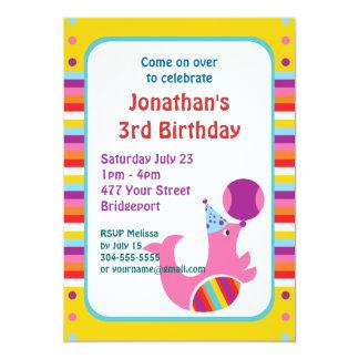 Fiesta de cumpleaños de encargo del circo invitación 12,7 x 17,8 cm