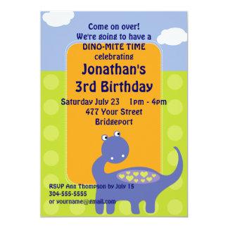 Fiesta de cumpleaños de encargo del dinosaurio invitación 12,7 x 17,8 cm