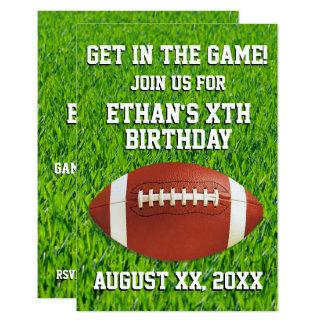 Fiesta de cumpleaños de encargo del fútbol de la invitación 8,9 x 12,7 cm