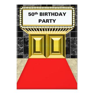 Fiesta de cumpleaños de la alfombra roja de la invitación 12,7 x 17,8 cm