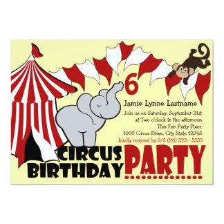 Fiesta de cumpleaños de la diversión del circo invitación 12,7 x 17,8 cm