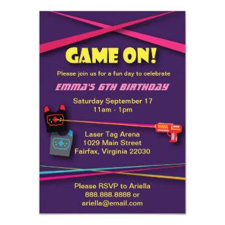 Fiesta de cumpleaños de la etiqueta del laser del invitación 11,4 x 15,8 cm