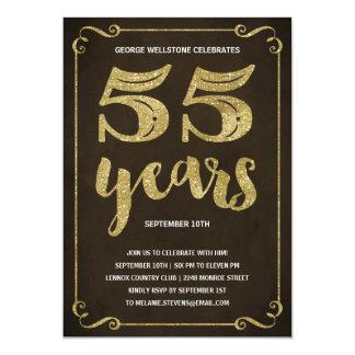 Fiesta de cumpleaños de la falsa hoja de la invitación 12,7 x 17,8 cm