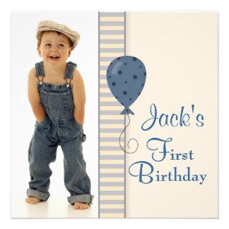 Fiesta de cumpleaños de la foto de los muchachos a invitaciones personales