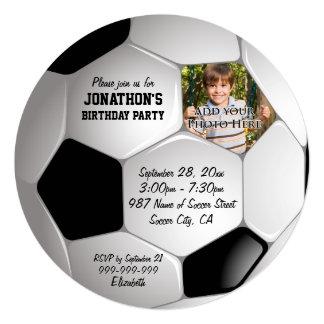 Fiesta de cumpleaños de la foto del balón de invitación 13,3 cm x 13,3cm