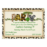 Fiesta de cumpleaños de la impresión de la selva invitación 12,7 x 17,8 cm