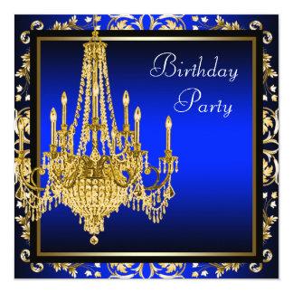 Fiesta de cumpleaños de la lámpara del damasco del invitación 13,3 cm x 13,3cm