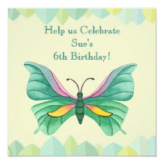 Fiesta de cumpleaños de la mariposa - invitación