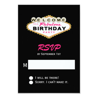 Fiesta de cumpleaños de la muestra de Las Vegas Invitación 8,9 X 12,7 Cm