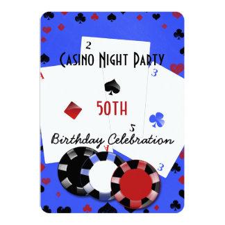 Fiesta de cumpleaños de la noche del casino invitación 12,7 x 17,8 cm