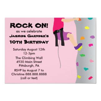 Fiesta de cumpleaños de la pared de la roca del invitación 11,4 x 15,8 cm