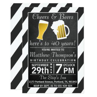 Fiesta de cumpleaños de la pizarra de las alegrías invitación 12,7 x 17,8 cm