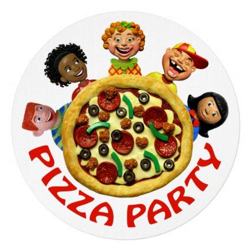 Fiesta de cumpleaños de la pizza anuncio