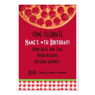 Fiesta de cumpleaños de la pizza… invitación 12,7 x 17,8 cm