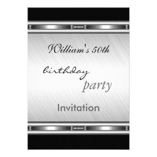 Fiesta de cumpleaños de la plata elegante de la in