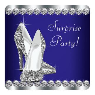 Fiesta de cumpleaños de la sorpresa de la mujer invitación 13,3 cm x 13,3cm