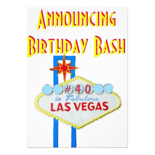 Fiesta de cumpleaños de la sorpresa de Las Vegas 4 Comunicado