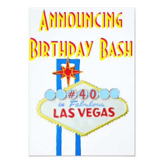 Fiesta de cumpleaños de la sorpresa de Las Vegas Invitación 12,7 X 17,8 Cm
