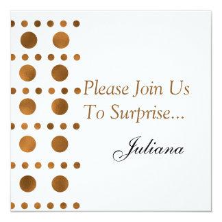 Fiesta de cumpleaños de la sorpresa de los puntos invitación 13,3 cm x 13,3cm