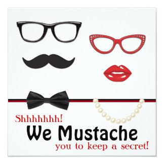 Fiesta de cumpleaños de la sorpresa del bigote comunicado personalizado