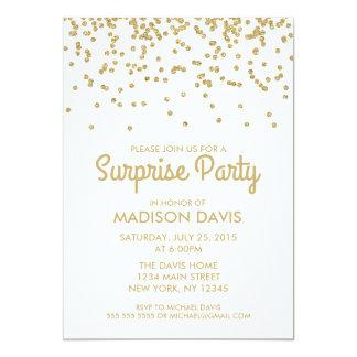 Fiesta de cumpleaños de la sorpresa del confeti invitación 12,7 x 17,8 cm