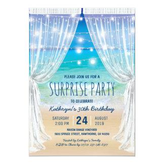 Fiesta de cumpleaños de la sorpresa del destino de invitación 12,7 x 17,8 cm