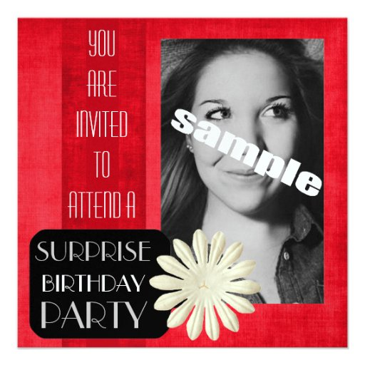 Young Lady Birthday Invitation