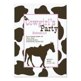 Fiesta de cumpleaños de la vaquera invitación 12,7 x 17,8 cm