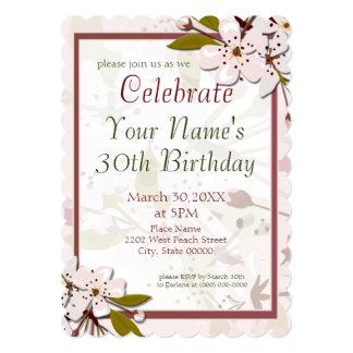 Fiesta de cumpleaños de las flores de cerezo de la invitación 12,7 x 17,8 cm
